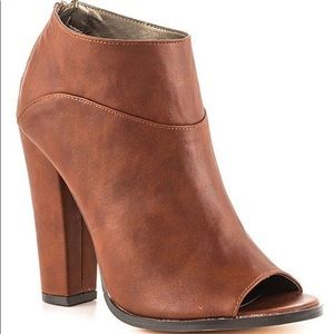 Michael Antonio peep toe booties